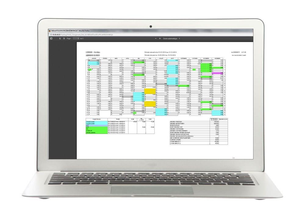 Annualisation du temps de travail - Fastilog logiciel RH de gestion des temps et des activités