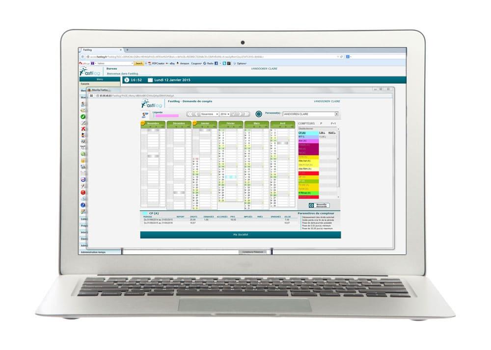Demande de congés dans le module de gestion des congés et absences de Fastilog, logiciel RH