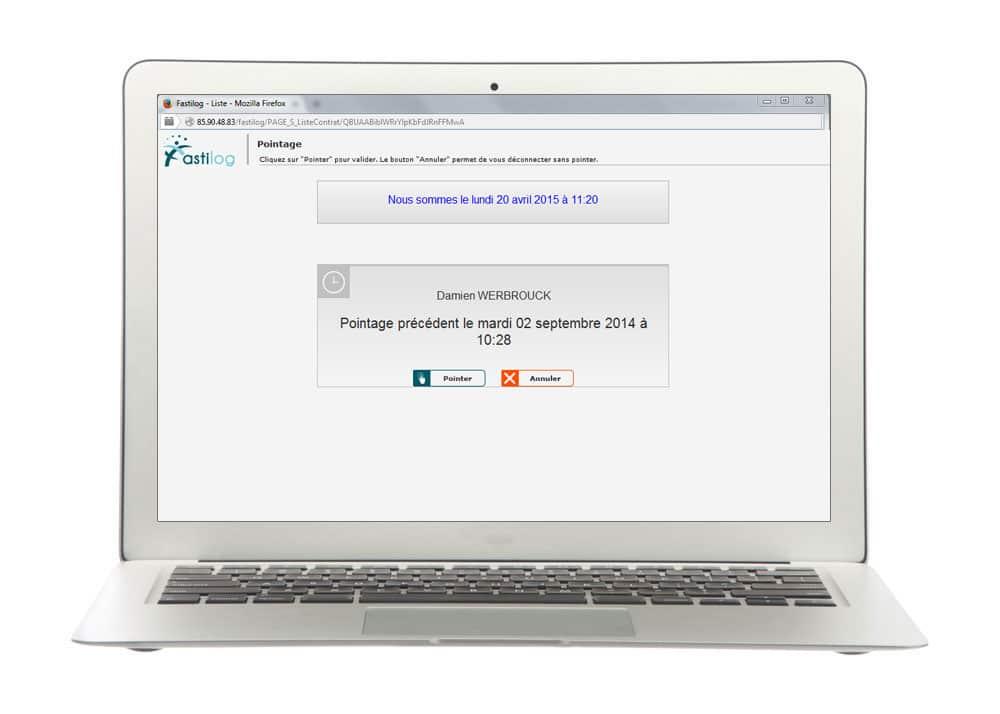 Pointage virtuel - Module de gestion des temps de présence et pointage de Fastilog, logiciel RH gestion des temps