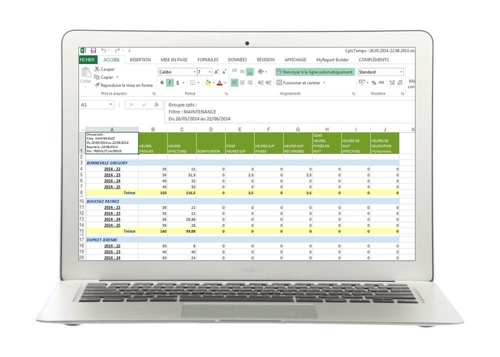 Tableau de bord - Module de gestion des plannings de Fastilog logiciel RH de gestion des temps et des activités