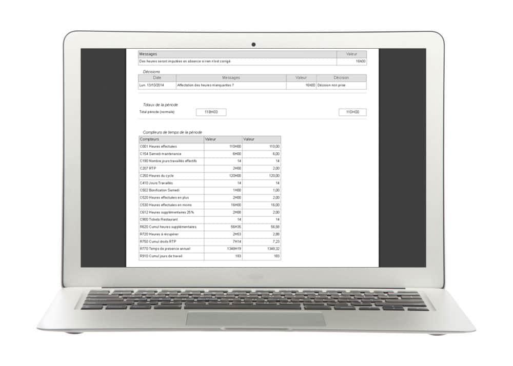 Décisions - Module de gestion des temps de présence et des pointages de Fastilog logiciel RH de gestion des temps et des activités