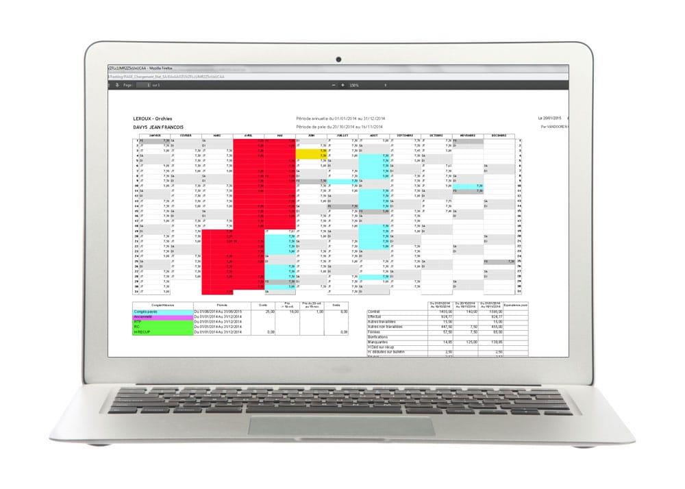 Tableau de bord - Module de gestion des congés et absences de Fastilog logiciel RH de gestion des temps et des activités